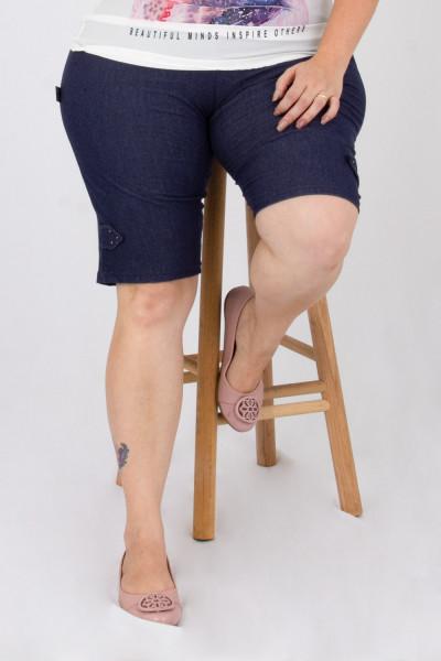 Bermuda Malha Jeans