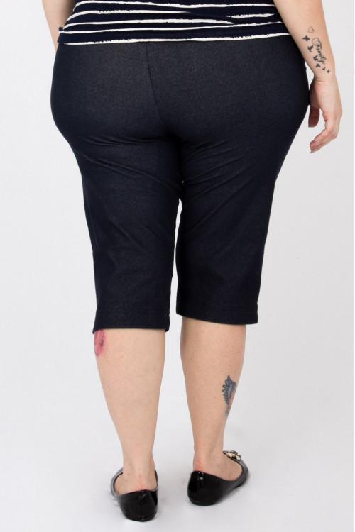 Pedal Malha Jeans com bolso