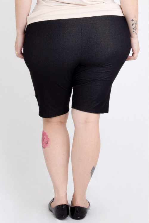 Bermuda Malha Jeans com bolso